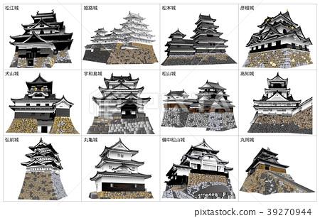 日本城堡现存塔 39270944