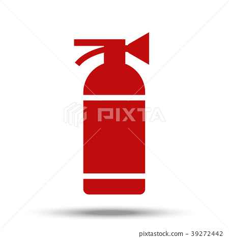 Fire extinguisher painted in flat design isolated 39272442