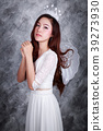 portrait of beautiful young woman angel 39273930