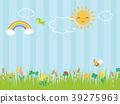 春天开花草甸风景 39275963