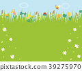 春天开花草甸风景 39275970