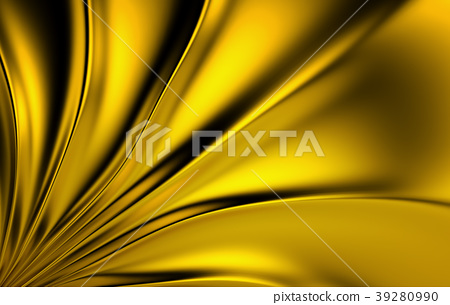Gold silk drapery and fabric background. 3d render 39280990