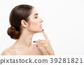 Beauty Skin Care Concept - Beautiful caucasian 39281821