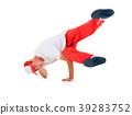 Teenager dancing breakdance in action 39283752
