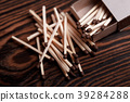 Matches in open match box 39284288