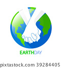 Holding hands with Earth planet.  39284405