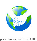 Holding hands with Earth planet.  39284406