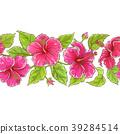 hibiscus, flower, vector 39284514
