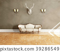 White classical style sofa in vintage room. 39286549
