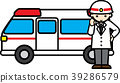 Ambulance and emergency life-saving person 39286579