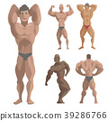 vector, bodybuilder, character 39286766