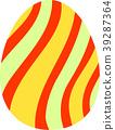 다채로운 부활절 달걀 39287364