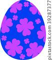 다채로운 부활절 달걀 39287377