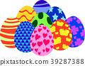 다채로운 부활절 달걀 집합 39287388