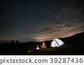 stars, camping, tent 39287436