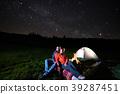 stars, camping, tent 39287451
