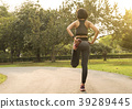 exercising stretch leg relax muscle for running 39289445