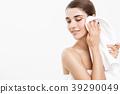 Beauty Skin Care Concept - Beautiful Caucasian 39290049