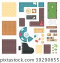 Club interior elements - set of modern vector 39290655