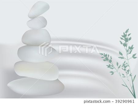 zen stone and grass 39290961
