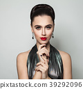 Stylish Woman showing Hands with Manicure Nails 39292096