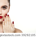 Stylish Woman showing Hands with Manicure Nails 39292105