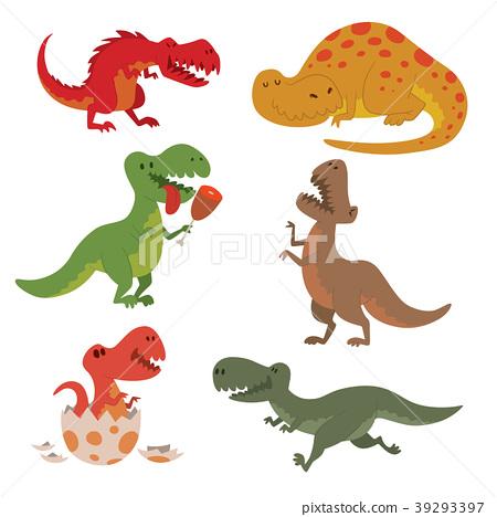 Dinosaurs vector dino animal tyrannosaurus t-rex 39293397