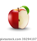 Vector Realistic Red Apple Cut  With Seeds  39294107