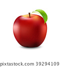 Red Apple Realistic With Leaf. Detailed 3d 39294109