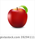 Vector Realistic Red Apple. Detailed 3d 39294111