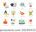 Distant learning flat design online education 39294435