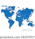 블루, 세계지도, 벡터 39297657