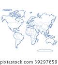 대륙, 세계지도, 벡터 39297659