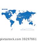 벡터, 블루, 세계지도 39297661