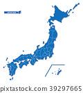 일본지도, 블루, 일본 39297665