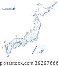 일본지도, 벡터, 일본 39297666