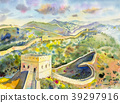 The Great Wall of China. Watercolor painting 39297916