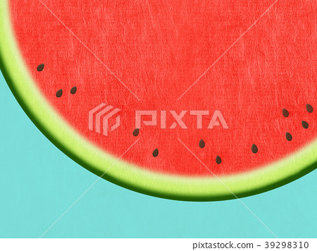 summer, watermelon, japanese paper 39298310