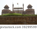 Top Facade of Red Fort 39299599