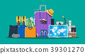 vector, passport, baggage 39301270