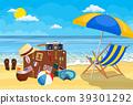 holiday, sand, suitcase 39301292