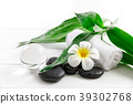 spa concept with candle, stone, flower and bamboo 39302768