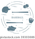 Baseball bats, glove, balls, helmet, shoes 39303686