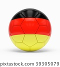 3d rendering of soccer ball with German flag 39305079