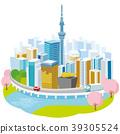 skytree tower, tokyo, cherry blossom 39305524