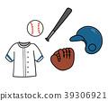 棒球設備例證材料 39306921