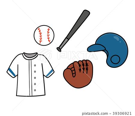 棒球设备例证材料 39306921