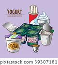 Digital vector detailed line art packed yogurt han 39307161