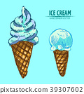 sketch food waffle 39307602