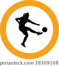 soccer women silhouette girl player 39309108